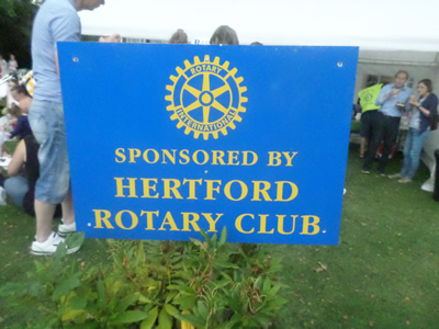 the rotary club sign
